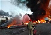 حریق در پالایشگاه تهران؛ ادامه حریق به دلیل اشتعال مواد سوختی باقیمانده از مخزن حادثه دیده + فیلم
