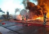جزئیات آتشسوزی در پالایشگاه تهران/ اعزام 6 ایستگاه آتشنشانی به محل + تصاویر