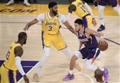 پایان تلخ پادشاه در NBA/ لیکرز حریف فینیکس نشد + عکس