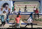 جهادگران جبهه منتظران خورشید برای کودکان کورهنشین برنامههای فرهنگی اجرا کردند + عکس