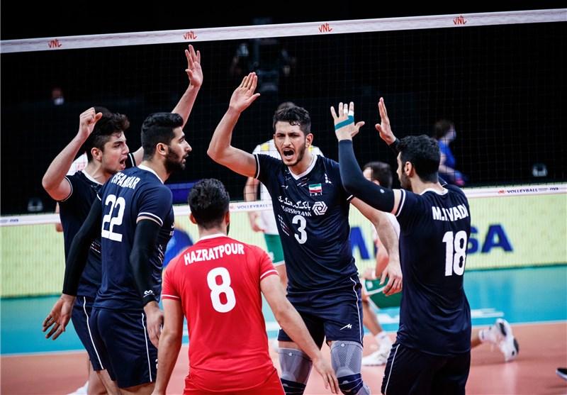 لیگ ملتهای والیبال| برتری مطلق ایران مقابل بلغارستان/ هتتریک پیروزی شاگردان آلکنو در هفته دوم