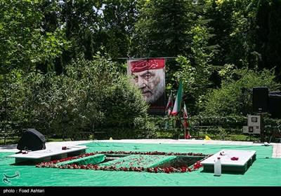 مراسم تشییع و تدفین پیکر دو شهید گمنام