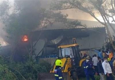 آتشسوزی در کارخانه مواد شیمیایی هند ۱۸ کشته برجای گذاشت+تصاویر