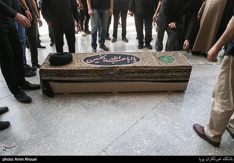 مراسم تدفین مرحوم حجت الاسلام محتشمی پور