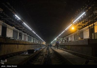 بازدید خبرنگاران از خط دو پروژه قطار شهری کرج