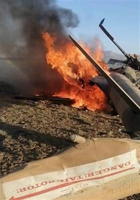 سقوط بالگرد ارتش افغانستان در حمله طالبان