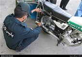 سرقت موتورسیکلت با لباس پلیس