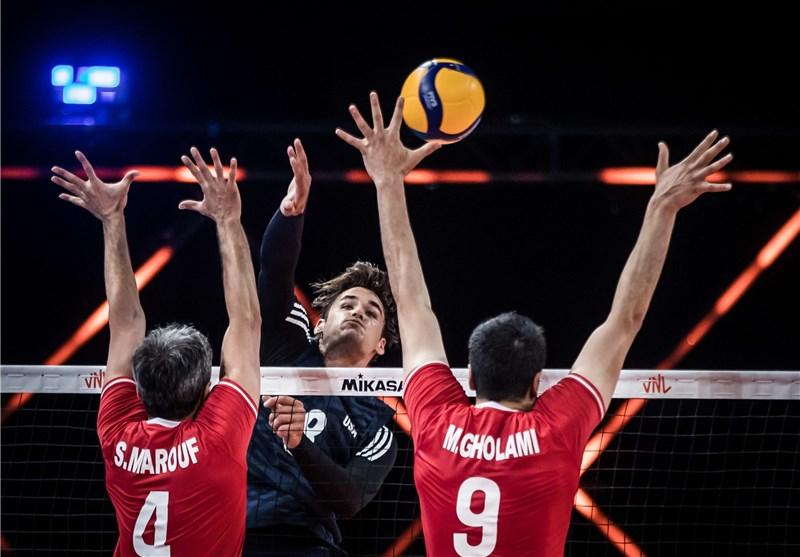 لیگ ملتهای والیبال  تحقیر آمریکا مقابل ایران/ برتری مطلق شاگردان آلکنو برابر یانکیها