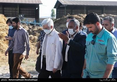 حضور سعید جلیلی، کاندیدای سیزدهمین دوره انتخابات ریاست جمهوری در روستای عشق آباد شهرری