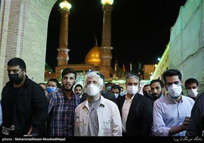 حضور سعید جلیلی، کاندیدای سیزدهمین دوره انتخابات ریاست جمهوری در حرم حضرت عبدالعظیم حسنی (ع)
