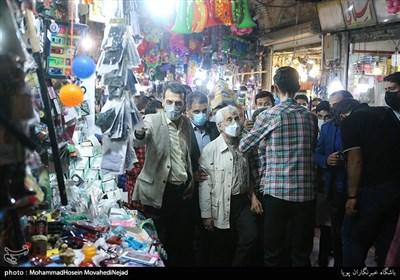 حضور سعید جلیلی، کاندیدای سیزدهمین دوره انتخابات ریاست جمهوری در بازار حرم حضرت عبدالعظیم حسنی (ع)