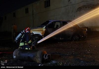 آتش سوزی کارگاه شارژ سیلندرهای گاز مایع