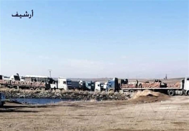 قاچاق 20 کامیون گندم سوریه به شمال عراق توسط اشغالگران آمریکایی