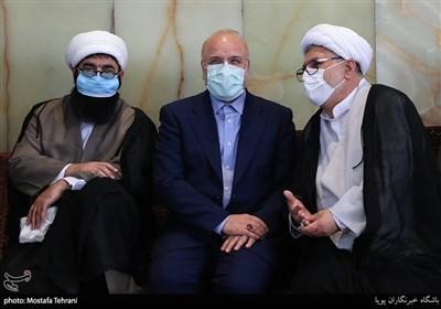حضور محمد باقر قالیباف رئیس مجلس شورای اسلامی در گردهمایی روحانیون و ائمه جماعت تهران