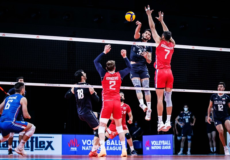 لیگ ملتهای والیبال| شکست ایران مقابل صربستان در ماراتنی نفسگیر