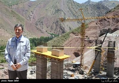 بازدید رئیس بنیاد مستضعفان از منطقه 2 آزادراه تهران-شمال