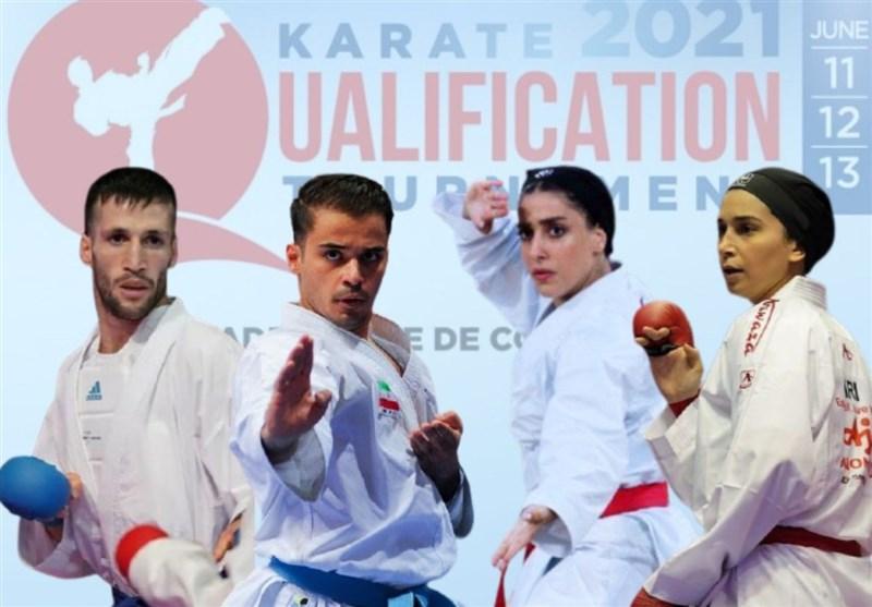 مسابقات کاراته گزینشی المپیک| نمایندگان ایران حریفان خود را شناختند