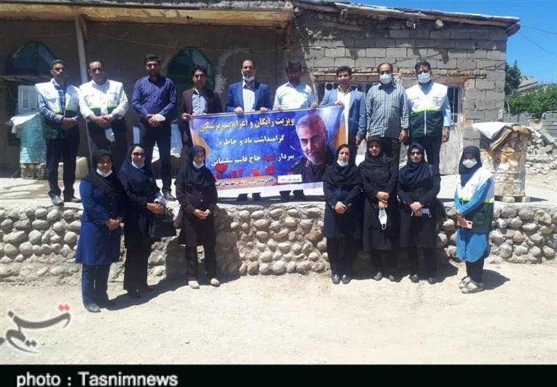 4 تیم بهداشتی و درمانی بسیج به منطقه محروم قلایی سلسله اعزام شد+ تصاویر