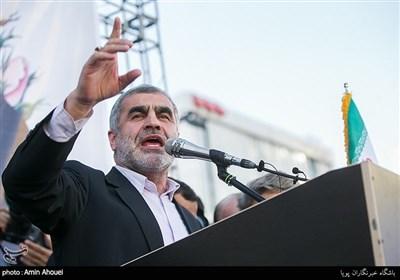 سخنرانی علی نیکزاد گردهمایی حامیان رئیسی در میدان ولیعصر(عج)