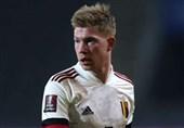 یورو 2020  دیبروینه بازی اول بلژیک را از دست داد
