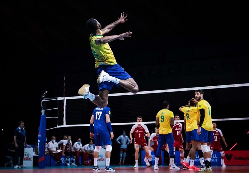 لیگ ملتهای والیبال  برزیل، صدر جدول را از لهستان پس گرفت/ ایران در رده ششم + برنامه بازیها و جدول