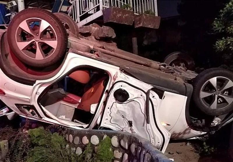 واژگونی تیگو 7 پس از تصادف شدید با تویوتا+ تصاویر