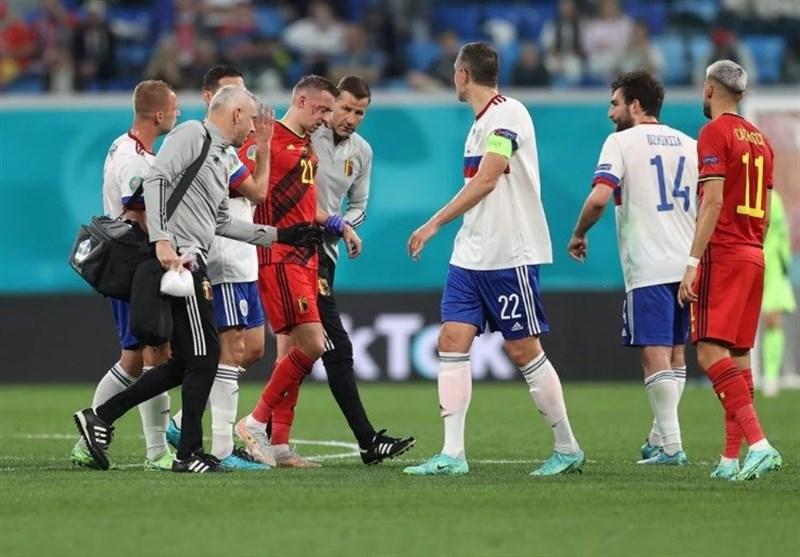 یورو 2020| شنبه سیاه باز هم قربانی گرفت؛ هافبک بلژیک دچار شکستگی استخوان شد/ مارتینس: کاستانیه تورنمنت را از دست داد