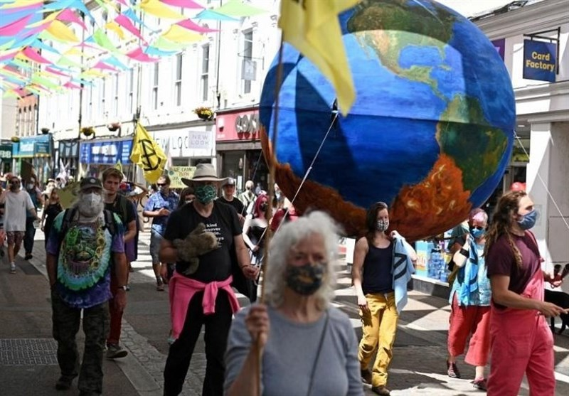 Environmental Groups Stage Theatrical Protests near to G7 Leaders Venue