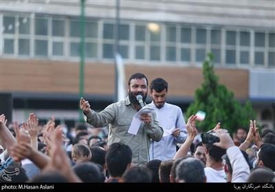 مداحی عبدالرضا هلالی، مهدی رسولی درپویش دعوت حضور میدان راه آهن تهران