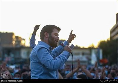 میثم مطیعی درپویش دعوت حضور میدان راه آهن تهران