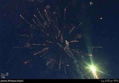 نور افشانی در پویش دعوت حضور میدان راه آهن تهران