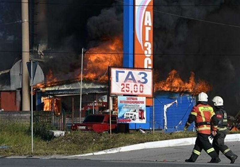 آتشسوزی در یک پمپ بنزین در روسیه 33 مجروح برجای گذاشت+فیلم