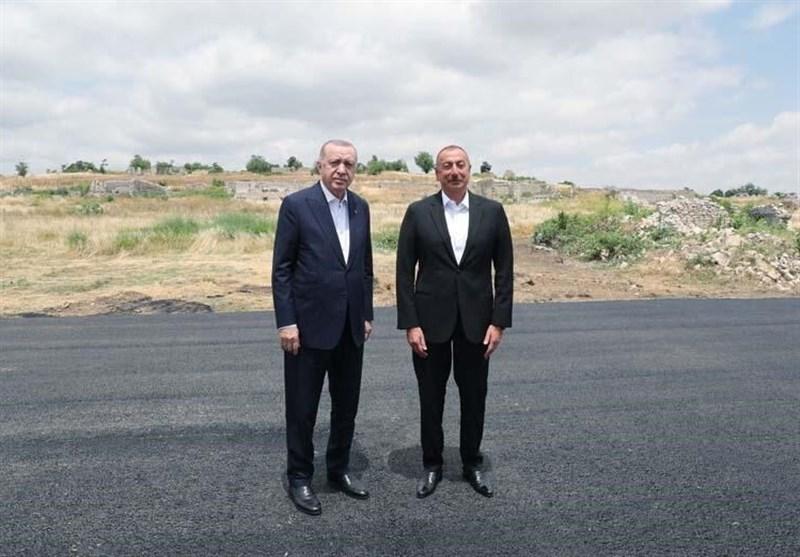 سفر اردوغان به جمهوری آذربایجان و دیدار با علی اف در شوشا