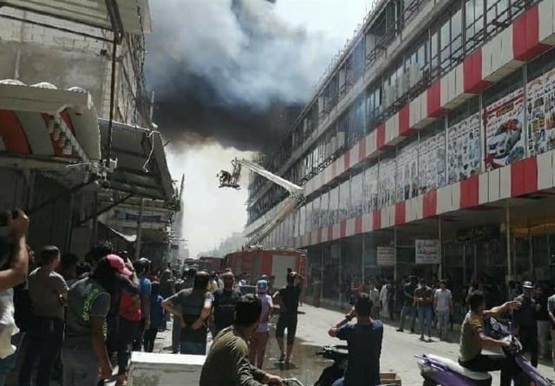 آتش سوزی یک مرکز تجاری در نجف اشرف+فیلم