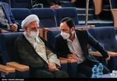 حجت الاسلام محسنی اژه ای معاون اول قوه قضاییه و علی بهادری جهرمی، رئیس مرکز وکلا