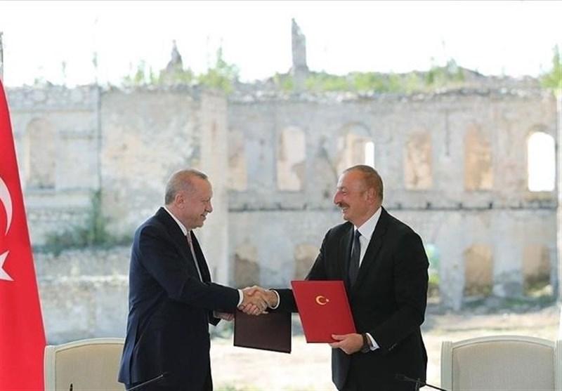 """امضای """"بیانیه متفقین"""" بین علی اف و اردوغان/کنسولگری ترکیه در شوشا"""