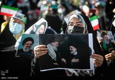 گردهمایی حامیان سید ابراهیم رئیسی در میدان فلسطین