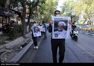راهپیمایی و گردهمایی حامیان سعید جلیلی در میدان راه آهن