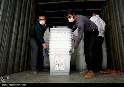 انتقال تعرفه ها و صندوقهای اخذ رای به محل توزیع بین شعب در همدان
