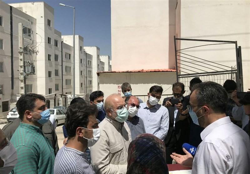 بازدید سرزده رئیس مجلس از مسکن مهر پردیس/ قالیباف: امکانات لازم برای بهبود وضعیت زندگی مردم فراهم شود