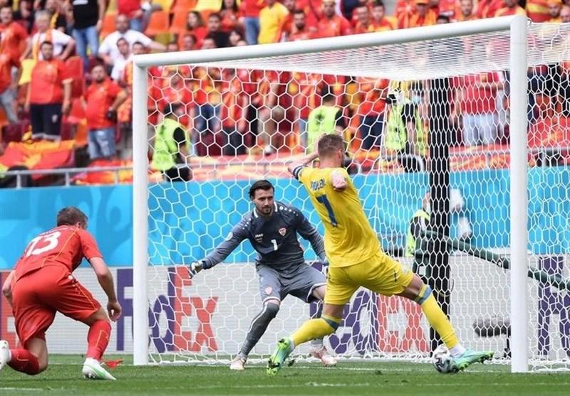 یورو 2020| برتری یکنیمهای اوکراین مقابل مقدونیه شمالی