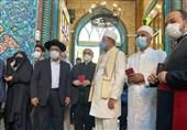 حضور اقلیتهای مذهبی در حسینیه ارشاد برای شرکت در انتخابات