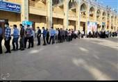 مشارکت گسترده مردم فارس در شامگاه انتخابات / صفهای طولانی اخذ رای در شیراز و حرم مطهر شاهچراغ