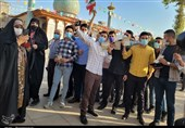 حماسه حضور مردم در سومین حرم اهل بیت + تصاویر