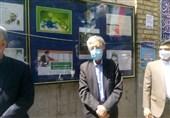 حداد عادل برای شرکت در انتخابات، در مسجد لرزاده تهران حضور یافت