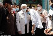 حضور سعید جلیلی در شعبه اخذ رأی مستقر در مسجد فاطمیه محله خزانه تهران