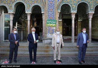 حضور کاندیداهای شورای شهر و مردم پای صندوق های رای