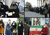 ازدحام جمعیت در برخی صندوقهای اخذ رأی اصفهان/ مشارکت بالای مردم فریدن در انتخابات/تراکم جمعیت در شعب اخذ رأی مبارکه