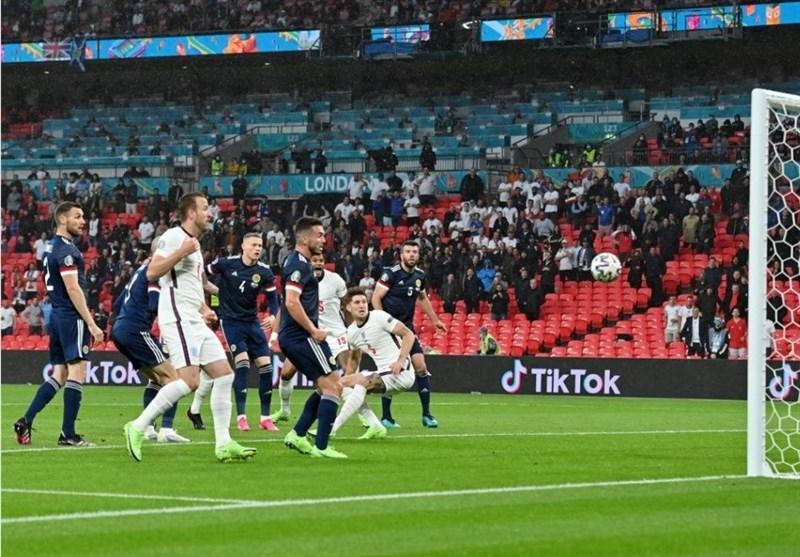 یورو 2020  تساوی انگلیس و اسکاتلند در پایان نیمه نخست