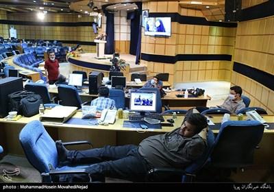 در حاشیه حضور خبرنگاران در ستاد انتخابات 1400